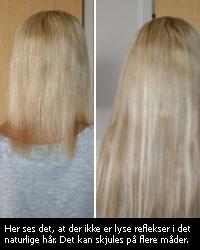 extensions i kort hår før og efter
