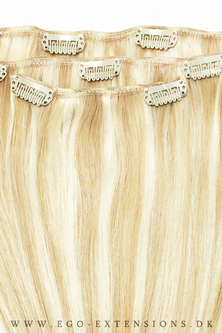 35 cm #18/613 kold blond piano clip on - 55gram