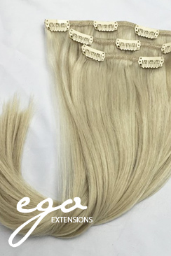 35 cm #613A askeblond clip on - 55 gram
