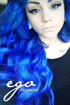 blå hårfarve permanent