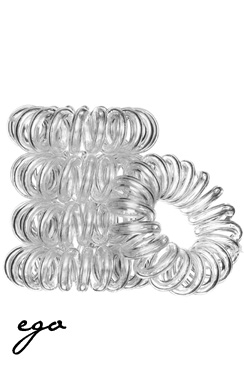 Bella Nova Hair Rings 5 stk. clear
