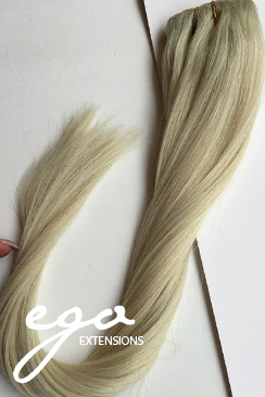 Platinblond Clip on extensions