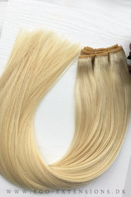 Lys blond Clip on extensions