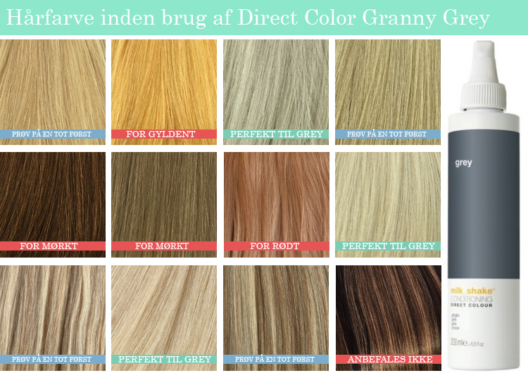 hårfarve farvekort