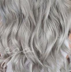 grå hår extensions