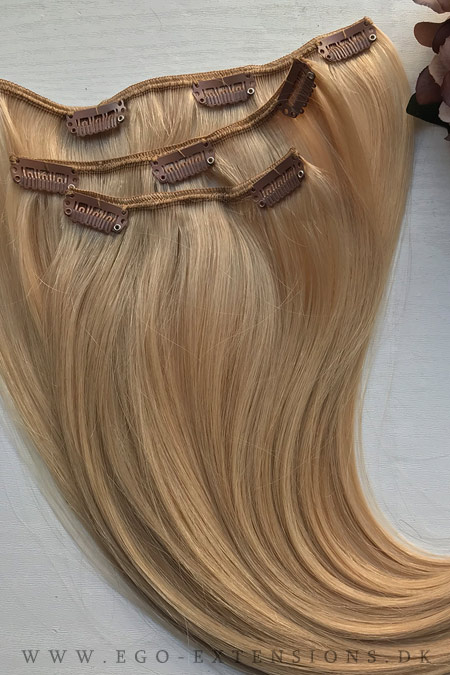 Beige blond Clip on extensions