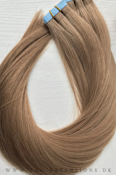 Kold mørk blond Tape extensions