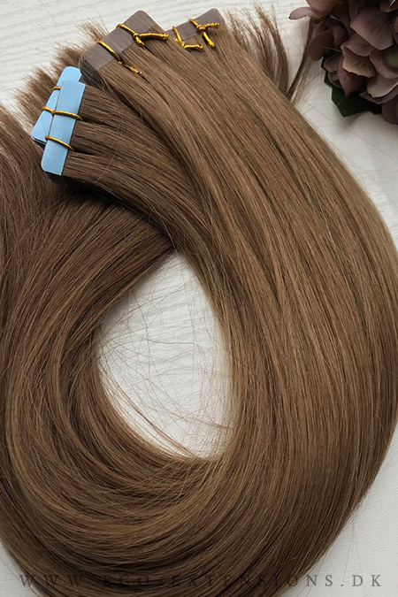Lys brun Tape extensions