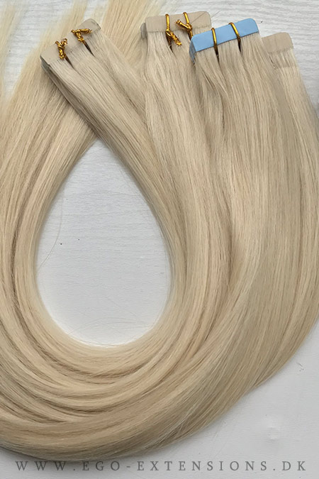 Lys blond ask Tape extensions