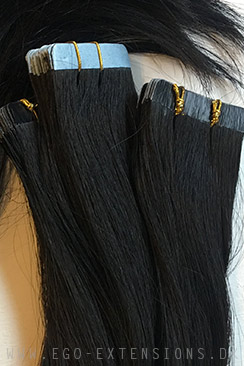 Farvet sort  Tape extensions