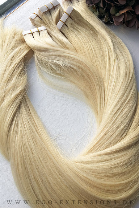 Lys blond #60 66 cm tape extensions