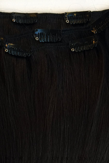 Sortbrun Clip on extensions