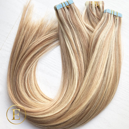 Kold blond piano mix 50 cm tape extensions
